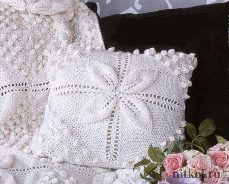 вязаная подушка ниткой вязаные вещи для вашего дома вязание