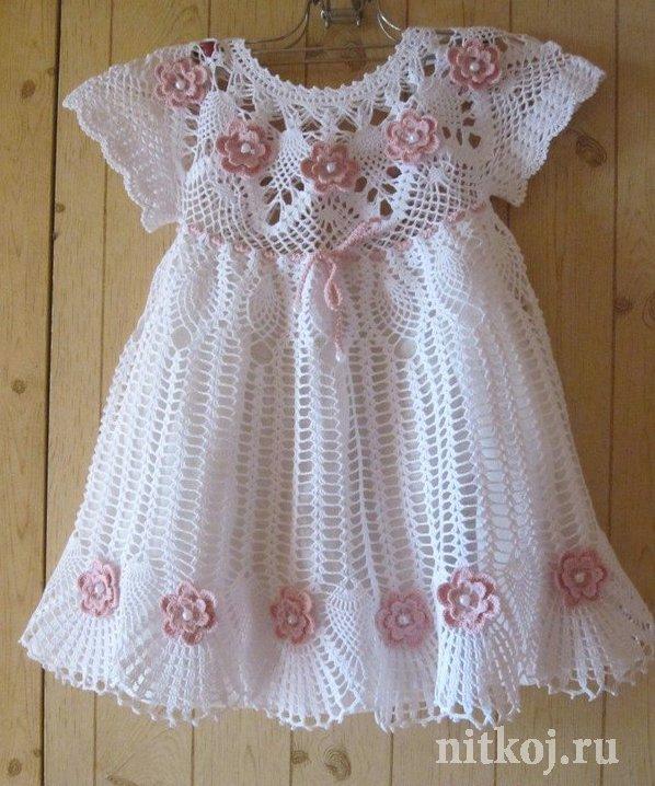 Вяжем летнее платье для девочки крючком