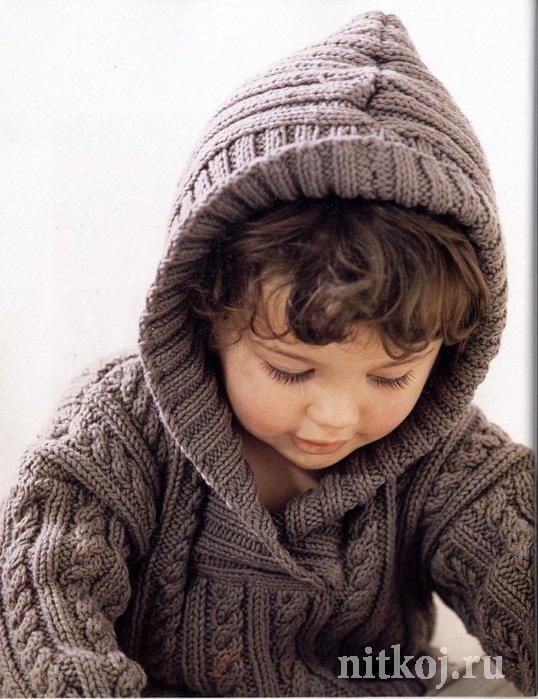Вязать детские кофточки с капюшоном