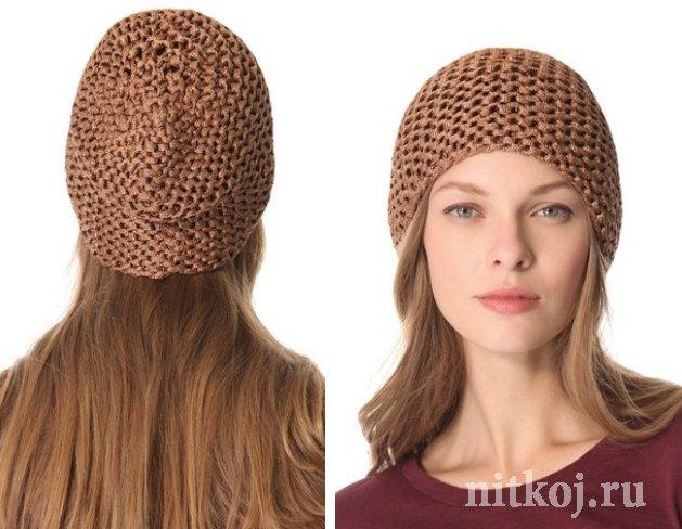 шапка платочной вязкой ниткой вязаные вещи для вашего дома