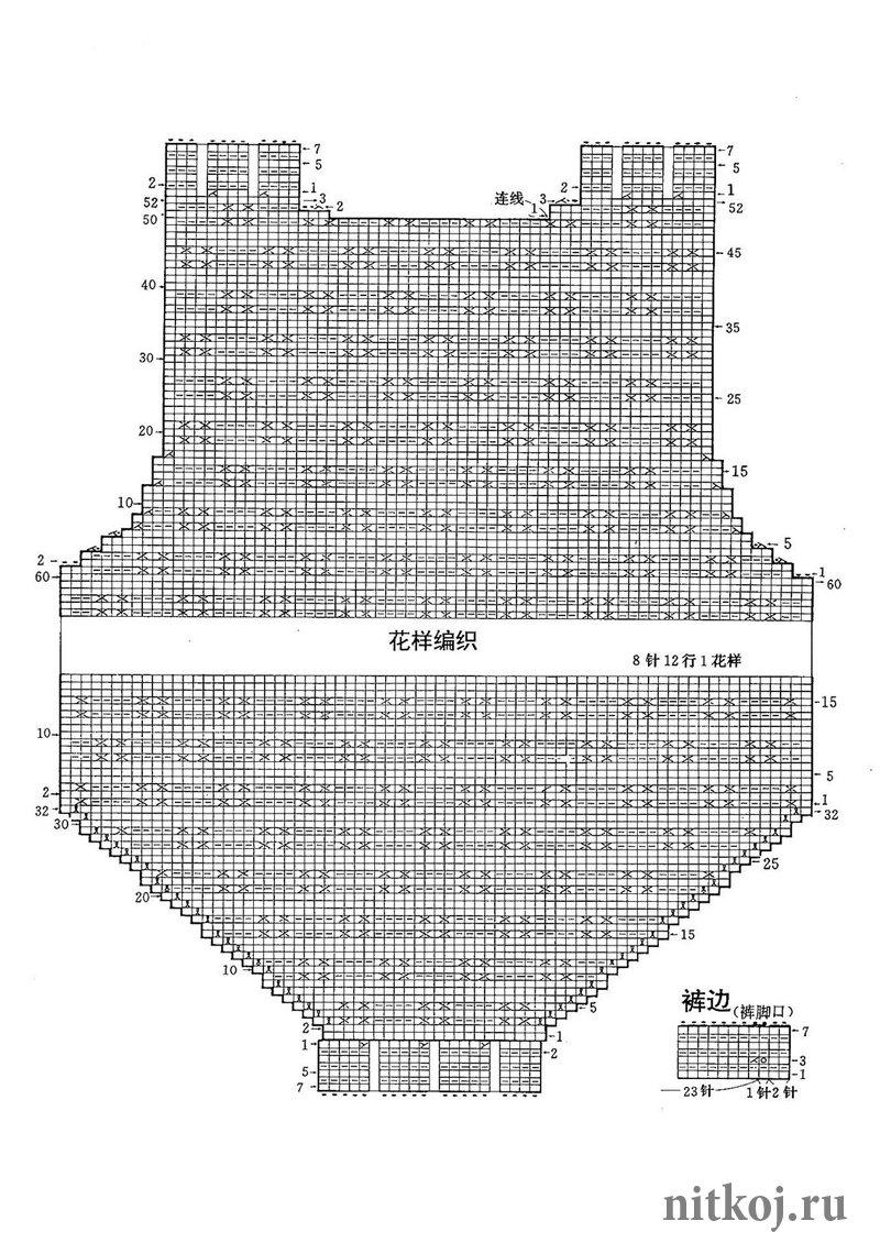 Схема вязанного боди