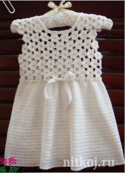 платья крючком для детей ниткой вязаные вещи для вашего дома