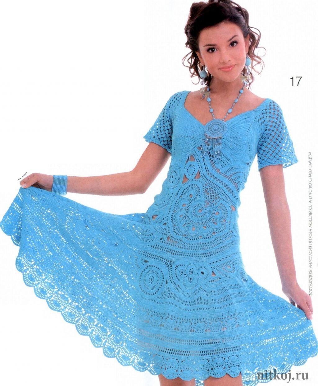 Вязание платьев модели