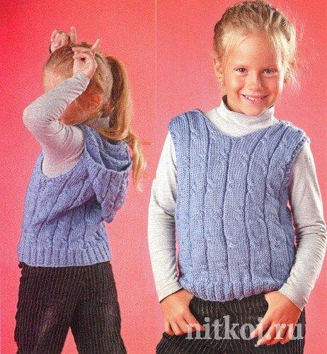 жилет с капюшоном ниткой вязаные вещи для вашего дома вязание