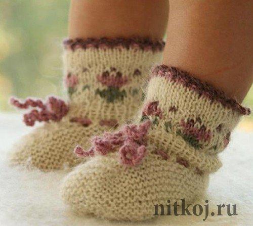 Вязать носочки детские