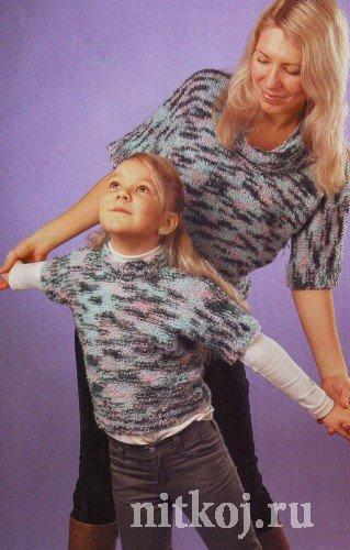 детский пуловер из пряжи букле ниткой вязаные вещи для вашего