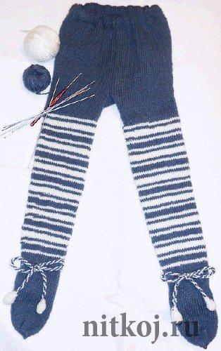колготки для малыша ниткой вязаные вещи для вашего дома вязание