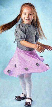 Пуловер с рукавами «Фонарик и юбка»