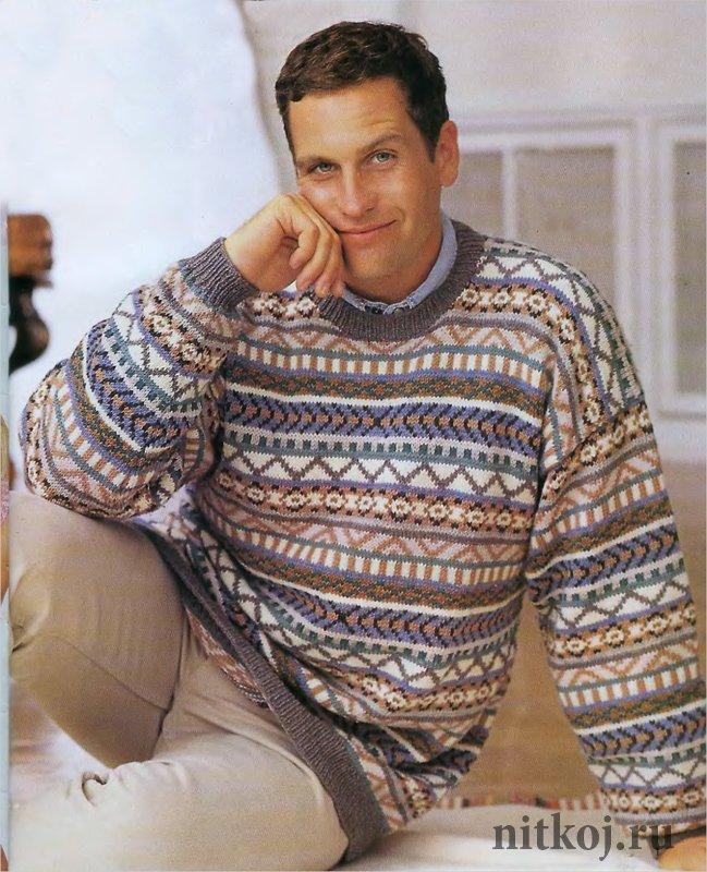 свитер без узора крючком