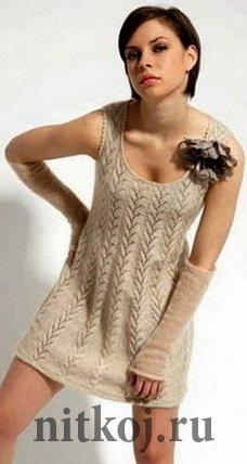 ажурные вязаные платья спицами ниткой вязаные вещи для вашего