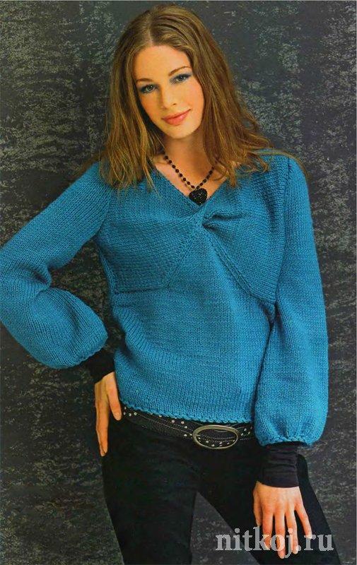 Широкие рукава вязание