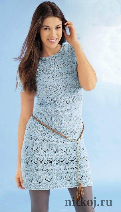 Модели вязание платья с