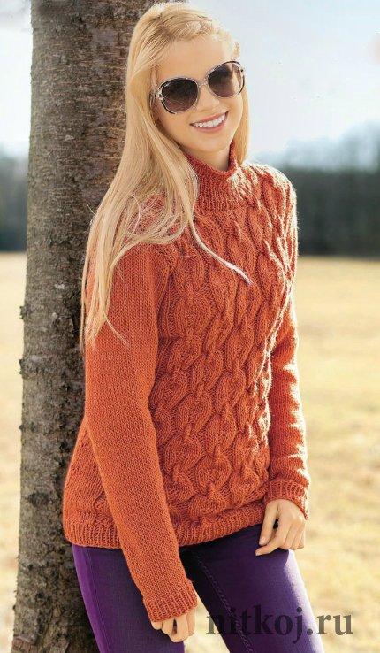 Вязание свитера спицами для