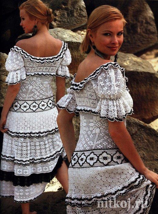 Платье и филейные узоры