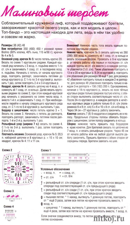 Схемы круговых узоров крючком с описанием