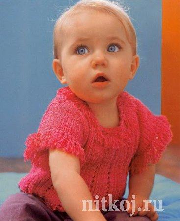 ажурное вязание спицами детских кофточек