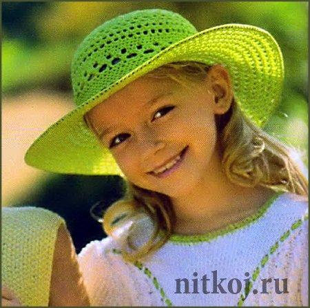Вязание крючком детских шляпок