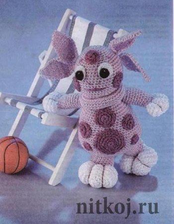 Лунтик - игрушки крючком для начинающих