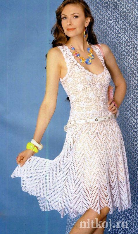 Платье и сарафан крючком или спицами - Наша Пряжа
