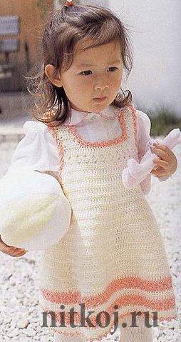 Вязание детских сарафанов