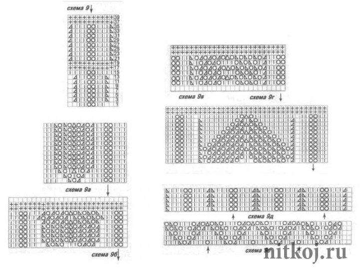 Схемы узоров для вязания спицами юбок 34