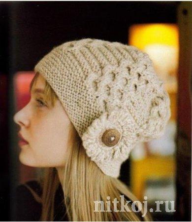 Песочная шапка с украшением