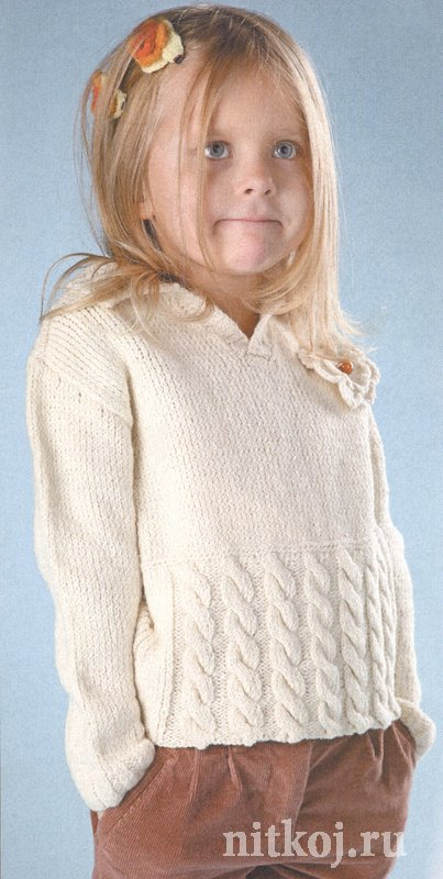детский свитер спицами ниткой вязаные вещи для вашего дома