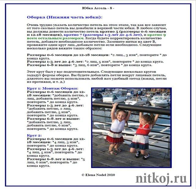 Вязание детских юбочек спицами с описанием 79