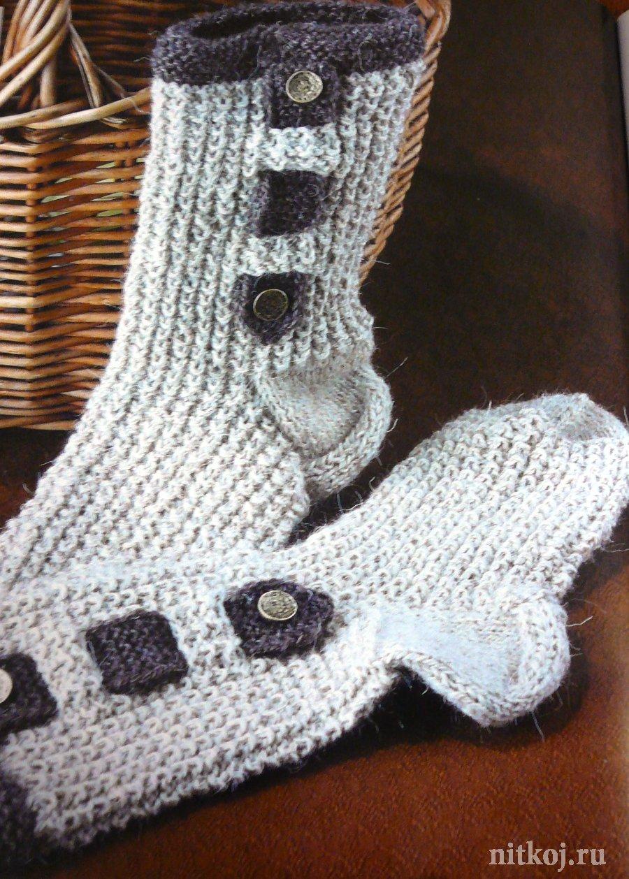 Носки, тапки » Ниткой - вязаные вещи для вашего дома ...