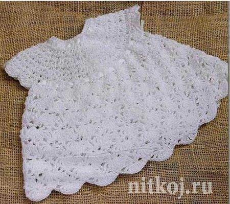Крестильное платье крючком «Пушинка»