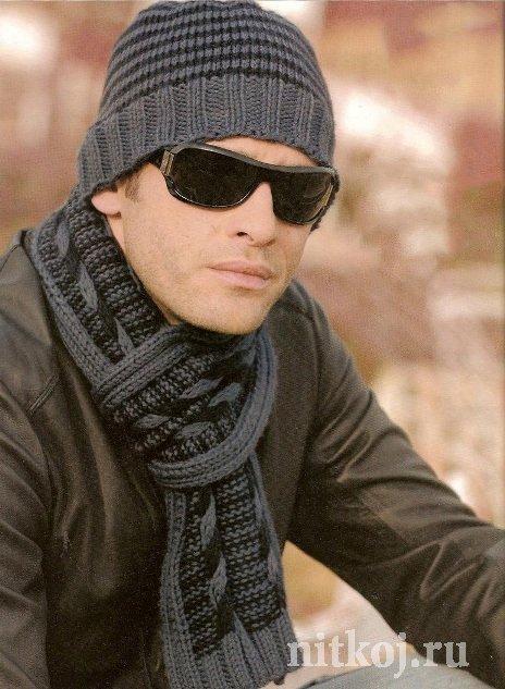 шапки для мужчин спицами ниткой вязаные вещи для вашего дома