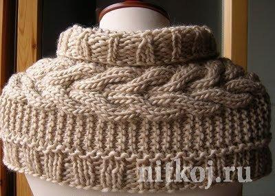 Красивый шарфик спицами