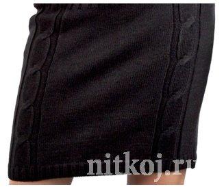 Деловая юбка спицами «Офисный стиль»