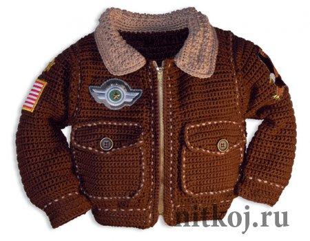 Курточка крючком для мальчика