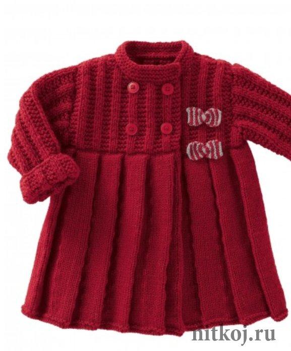 Пальто вязаное малышам схемы