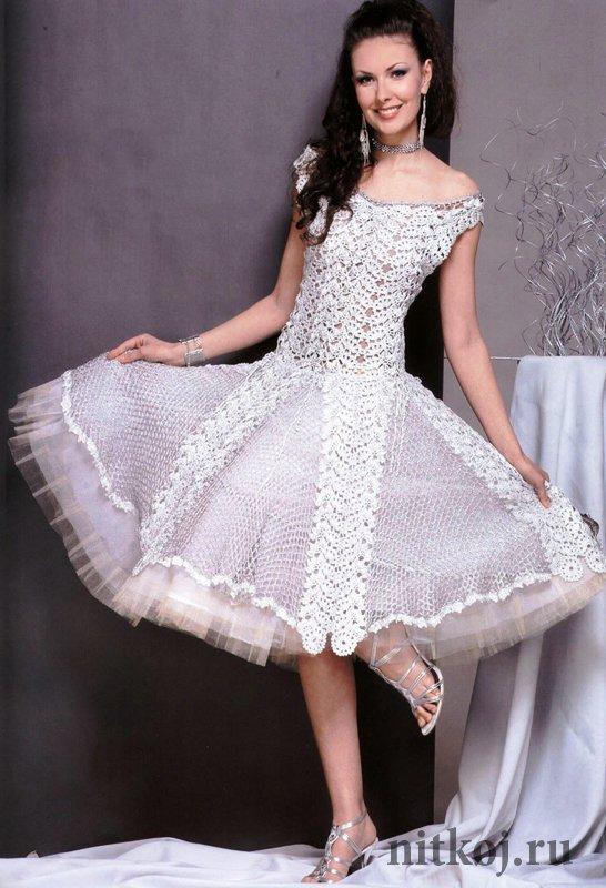 Вечернее платье крючком