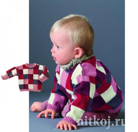 Детский джемпер спицами