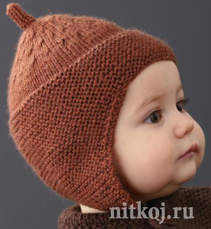 Детская шапочка спицами из Phildar