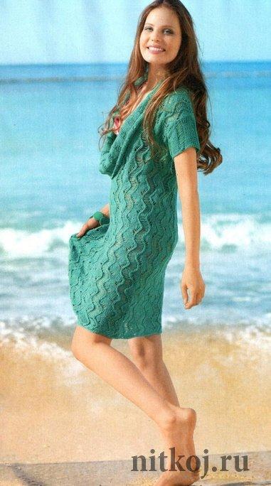 Вязаные теплые платья «Флоренция»
