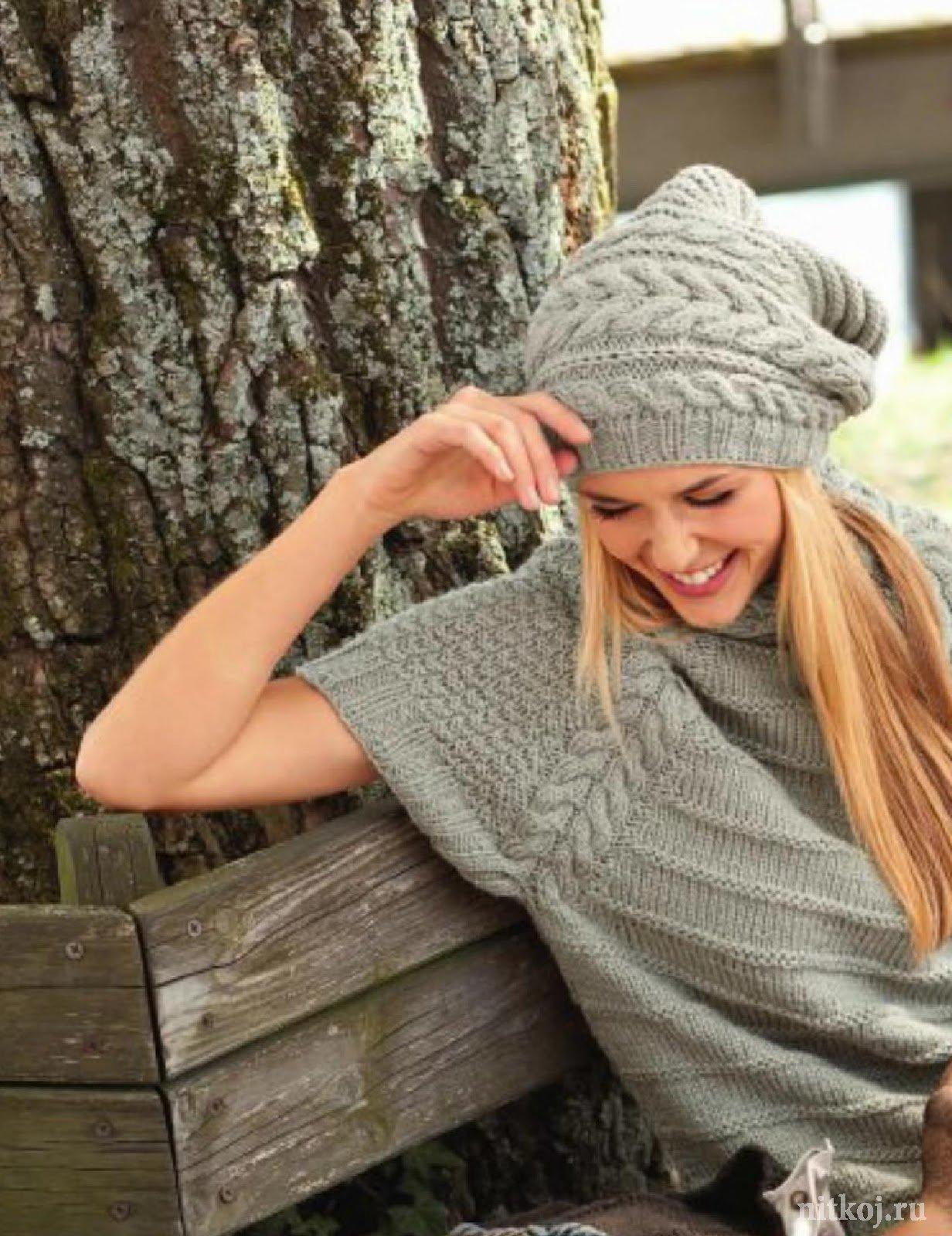 Вязание спицами свитера реглан для девочек