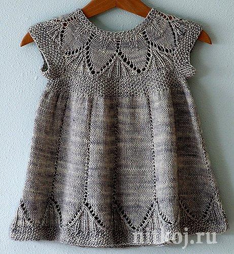 Платье спицами девочке на годик