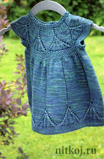 Платье для девочки на 1год вязание спицами