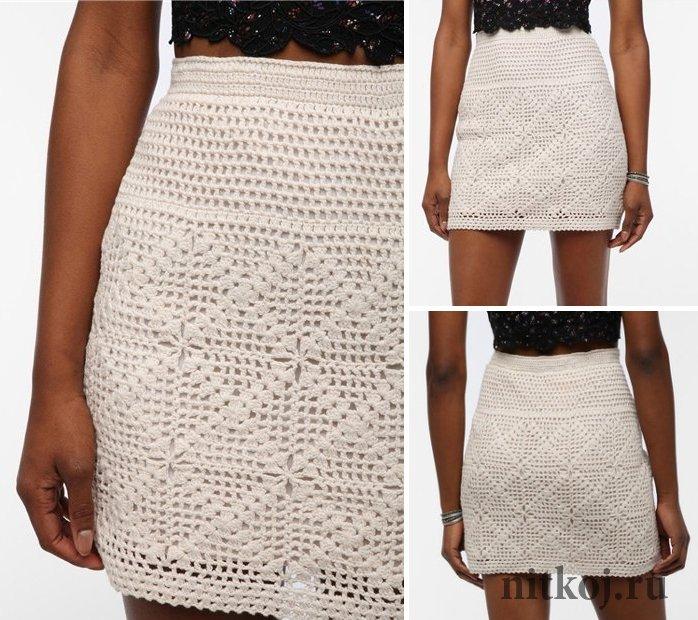 Подиумная юбка крючком