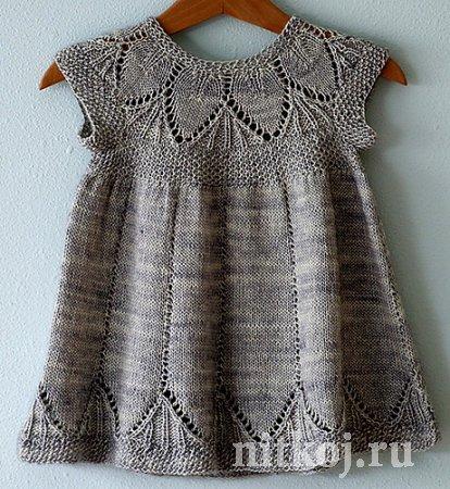 Вязаное платье 1 год