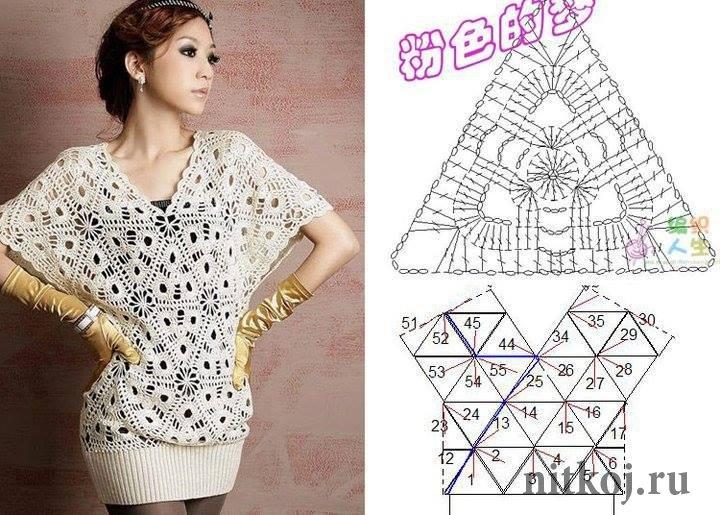 Платье треугольных мотивов