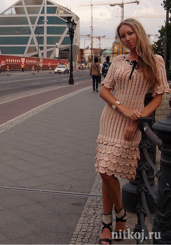 Бальные платья вязанные крючком схемы