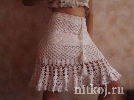 Интересная юбка крючком