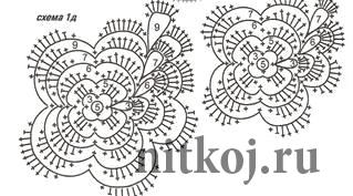 Болеро из цветочных мотивов