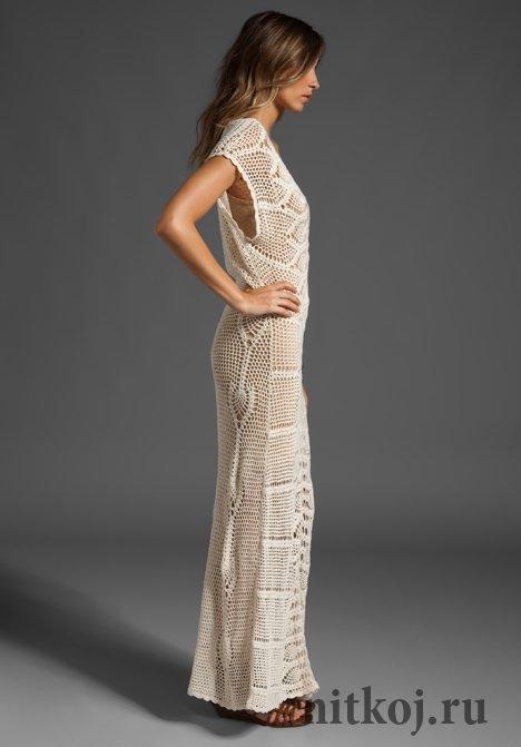 Ананасовое платье крючком