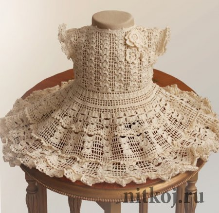 Платье крючком от Illianna